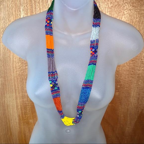 Tropical Rainbow Bead Necklace
